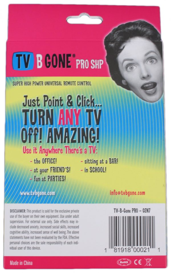 TV-B-Gone Pro Back
